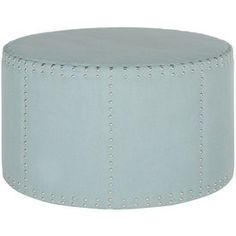 Safavieh Mercer Sky Blue Round Ottoman Mcr4640g