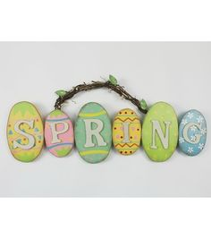 Spring Eggs Wall Plaque