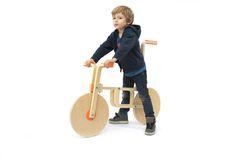 DIY Draisienne (hack of IKEA's frosta stool by Andreas Bhend and Samuel N. Bernier) // On my top 10 Best Ikea Hack! Ikea Hacks, Ikea Hack Frosta, Wooden Bicycle, Kids Bicycle, Wood Bike, Banco Ikea, Ikea Lamp, Ikea Chair, Push Bikes