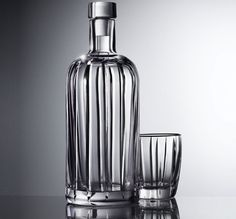 """Pernod Ricard launches Absolut Vodka Crystal Pinstripe which is """"the most exclusive and luxurious version of its iconic Absolut bottle"""". Vodka Distillery, Whisky Festival, Bottom Of The Bottle, Crystal Decanter, Absolut Vodka, Cheap Wine, Best Beer, Bottle Design, Fine Wine"""