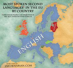 Second most spoken lang eu