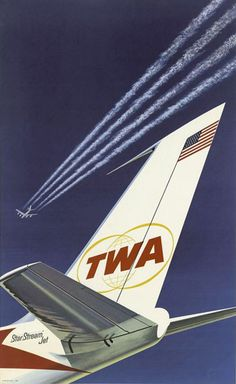 TWA Trans World Airlines Jet Tail Fin 1962 - www.MadMenArt.com features over 400…