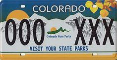 """Colorado State Parks """"Visit Your State Parks"""" License Plate"""