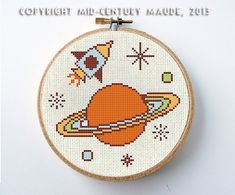 Outer+Space+Cross+Stitch+Pattern+Instant+by+MidCenturyMaude,+$5.00