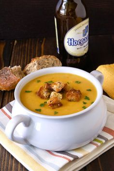 Beer soup...a delicious potato and leek bouillon soup with the addition of Belgian beer