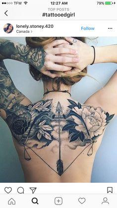 tattoos on black women - tattoos for women ; tattoos for women small ; tattoos for moms with kids ; tattoos for guys ; tattoos for women meaningful ; tattoos with meaning ; tattoos for daughters ; tattoos on black women Diy Tattoo, Henna Tattoos, Body Art Tattoos, Tattoo Ideas, Hot Tattoos, Stomach Tattoos, Tattoos Pics, Chicano Tattoos, Irezumi Tattoos