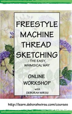 Learn freestyle machine thread sketching and and thread painting to create unique and beautiful Whimsical Flower stitched art, using my step-by-step method that will take you from 'How?' to 'Wow!'. This course is for the enthusiastic beginner or intermediate machine stitchers who want to either learn the basics of freestyle machine stitching, or take their skills to a different level. I'd love to have you join the community!