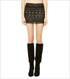 Forever 21 Geo-Patterned Sequinned Skirt