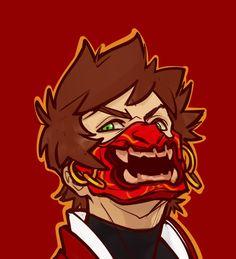 Erraday - Ninjago Kai (mask based in a demon samurai)