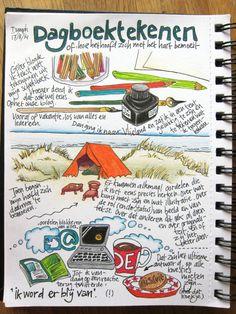 dagboek tekening