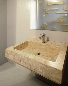 View full picture gallery of Bagno Low-cost In OSB Osb Wood, New Toilet, Ideias Diy, Küchen Design, Sink Design, Home Improvement Projects, Cheap Home Decor, Home Remodeling, Cheap Renovations
