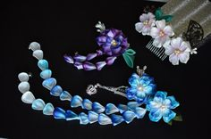 RESERVED custom order. Blue Sakura Purple by hanatsukuri on Etsy, $28.48