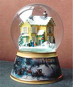 lenox christmas snow globes | Silent Night