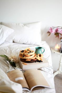 Breakfast in bed. Treasures And Travels Blog.