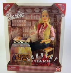 NIB Country Charm Barbie Doll, Cracker Barrel Old Country Store Exclusive 2000 #Mattel #Dolls