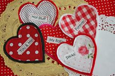 Conversation Fabric Hearts