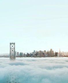 Blanket of fog #sanfrancisco #sf #bayarea #alwayssf #goldengatebridge #goldengate #alcatraz #california