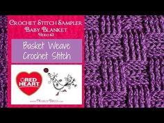 Crochet Basketweave Stitch - YouTube