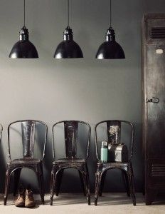 Metal industrial chairs