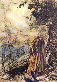 Arthur Rackham's illustrations to The Ring by Wagner Arthur Rackham at Art Passions