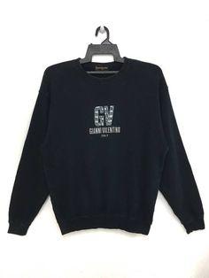 5fab6477926 Valentino 🔥🔥 Hot Sale!! GIANNI VALENTINO Italy Sweatshirt Jumper  Embroidered Logo Large Size