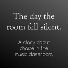 """""""You are who you choose to be."""" A story about choice, a glimpse into my classroom, a confession. The story about the day I lost my cool."""