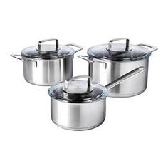 IKEA - IKEA 365+, 6-piece cookware set, 15 year guarantee. Read about the terms in the guarantee brochure.The glass lid allows…