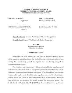 administrative adjudication decision