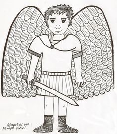 St Michael the Archangel Catholic Coloring Page Catholic