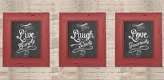 Chalkboard Prints - Set of 3 Chalkboard Print, Daily Deals Sites, Deal Sites, Do It Yourself Crafts, Sassy, Art Projects, Favorite Recipes, Craft Ideas, Prints
