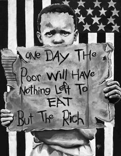 This photo shows that if communism were to become too powerful, the poor would basically become invisible to the rich. Rich Vs Poor, Eat The Rich, Illuminati, Anarcho Communism, Anarcho Punk, Protest Art, Political Art, Love And Lust, I Am Bad