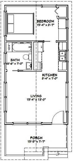 Amazing Shed Plans - Tiny House -- -- 391 sq ft - Excellent Floor Plans - Now You Can Build ANY Shed In A Weekend Even If You've Zero Woodworking Experience! Start building amazing sheds the easier way with a collection of shed plans! Plan Tiny House, Tiny House Cabin, Tiny House Living, Tiny House Design, Small House Plans, House Floor Plans, Tiny Home Floor Plans, Tiny Cabins, Tiny House With Loft