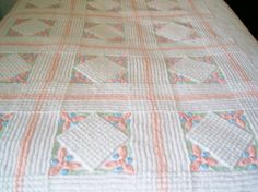 Vintage Chenille Bedspread Bedcover Twin by kwaltervintage on Etsy