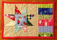 isaac's christmas mug rug by rainbow robot, via Flickr. Just the left side: potholder