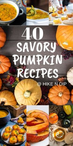 40 Savory Pumpkin Recipes That Are The Highlight of Every Fall Meals - Hike n Dip Make your Fall dinner recipes even more special with savory Pumpkin Recipes. These Pumpkin Dishes are perfect to make your autumn dinnera a special one. Pumpkin Casserole, Pumpkin Lasagna, Chicken Pumpkin, Pumpkin Hummus, Pumpkin Pasta, Roast Pumpkin, Vegan Pumpkin, Baked Pumpkin, Fall Dinner Recipes