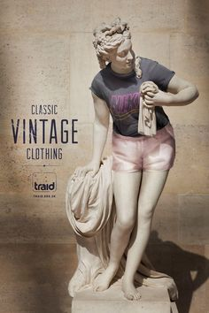Traid: Vintage statue, 2 Advertising Agency: RKCR/Y, UK #advertising #media #advertisement #marketing #poster #print #campaign #creative #creativity #ad #ads #product #service #agency #clothes #clothing #classic #vintage