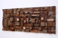 Reclaimed wood city scape wall art 50x21.5x43/4 by CarpenterCraig, $2000.00