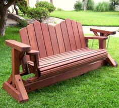 Adirondack Glider Bench - Adirondack Chairs | Forever Redwood