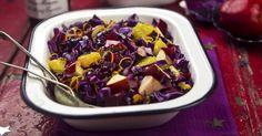 Recette de Salade de chou rouge à la pomme et à l'orange pour bien digérer. Facile et rapide à réaliser, goûteuse et diététique.