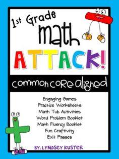 MATH ATTACK!: First Grade Common Core Math Mega-Pack {Addi  -  $18 CUTE craft, booklets, etc.