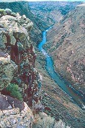 taos gorge, new mexico. amazing area, raft the rio grande, in taos box