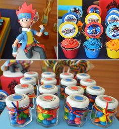 Beyblade birthday party ideas decorations and supplies for Anime beyblade cake topper decoration set