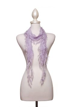 Dressing Your Truth - Type 2 Lacy Lilac Scarf