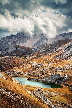Fanes-Sennes-Prags Nature Reserve, Dolomites, Italy.