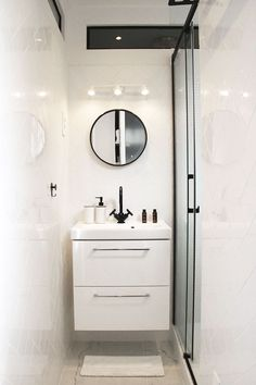 How to Finish Your Basement and Basement Remodeling – House Remodel HQ Bathroom Design Layout, Bathroom Interior Design, Bathroom Wallpaper, Modern Wallpaper, Modern Bathroom, Small Bathroom, Bathroom Gray, Light Bathroom, Small Spaces