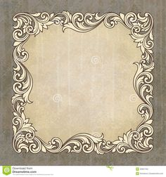Vector Retro Border Frame At Grunge Background - Download From Over 45 Million High Quality Stock Photos, Images, Vectors. Sign up for FREE today. Image: 25951194