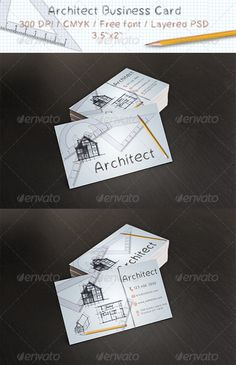 "Architect Business Card  #GraphicRiver         Layered PSD.  Fully Editable Files.  3.5"" x 2""   Horizontal Card.  300 DPI CMYK Colors.  Print Ready Files.  Free Fonts Used ( Fonts info available in Help file.)  Font:  .dafont /cheveuxdange.font     Created: 5June13 GraphicsFilesIncluded: PhotoshopPSD Layered: Yes MinimumAdobeCSVersion: CS4 PrintDimensions: 3.5x2.5 Tags: 300dpi #architect #architecture #blue #business #card #cmyk #comic #design #draw #edit #grey #high #layeredpsd #paper…"
