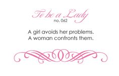 To Be A Lady: 062