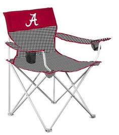 Alabama Crimson Tide Houndstooth Big Boy Logo Chair