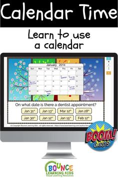 Interactive BOOM Learning deck to help teach how to read a calendar.